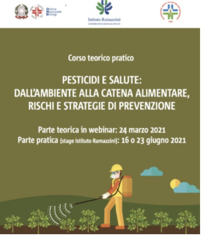 Pesticidi e salute:  corso teorico pratico con l'Istituto Ramazzini