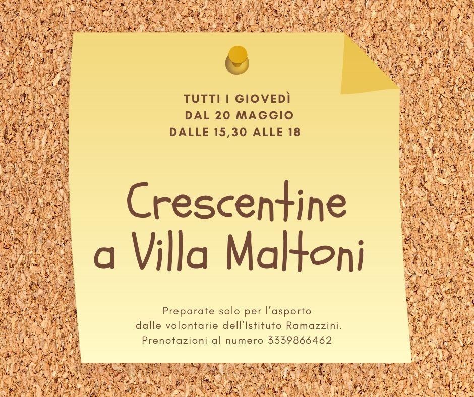 Crescentine a Villa Maltoni per la ricerca indipendente