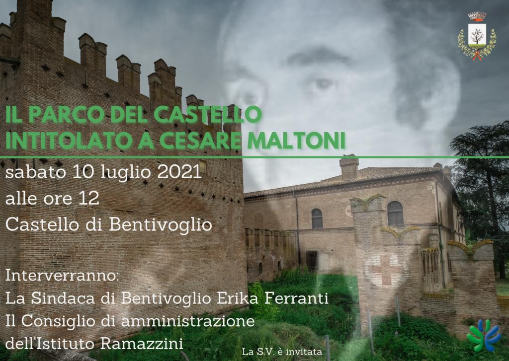 Il parco del castello di Bentivoglio intitolato a Cesare Maltoni